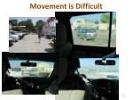 movement is difficult