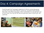 day 4 campaign agreements