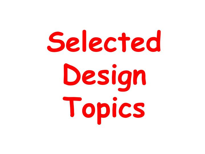 selected design topics n.