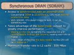 synchronous dram sdram