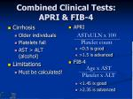 combined clinical tests apri fib 4
