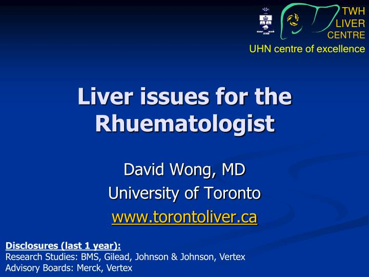 liver issues for the rhuematologist n.