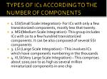 types of ics according to the number of components