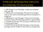 types of integrated circuits according to packaging