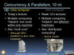 concurrency parallelism 10 mi up