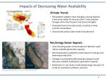 impacts of decreasing water availability