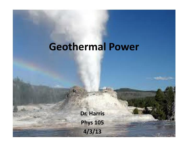 geothermal power n.