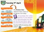 tuesday 9 th april