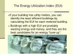 the energy utilization index eui