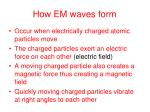 how em waves form
