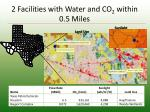 2 facilities with water and co 2 within 0 5 miles