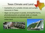 texas climate and land