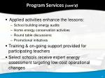 program services cont d