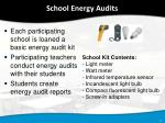 school energy audits