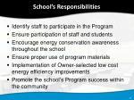 school s responsibilities