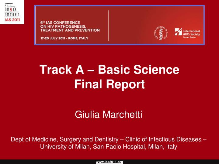 track a basic science final report n.