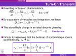 turn on transient1