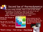 c second law of thermodynamics