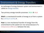 environment energy transfers