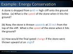 example energy conservation
