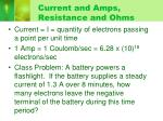 current and amps resistance and ohms