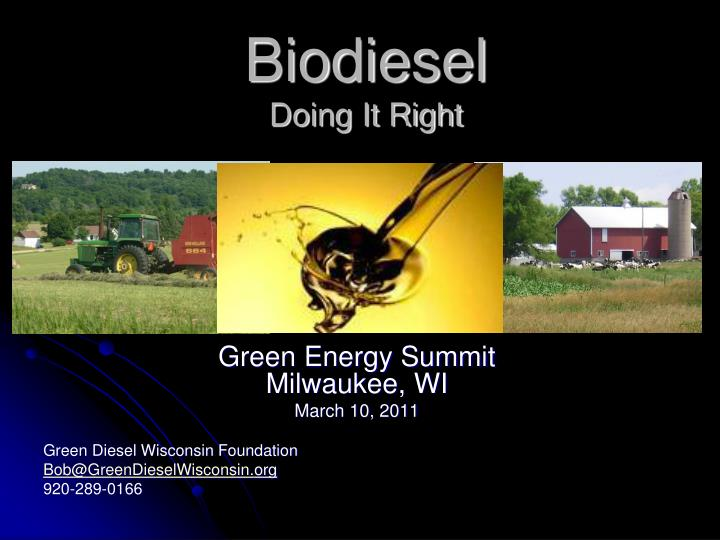 biodiesel doing it right n.