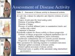 assessment of disease activity