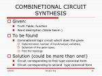 combinetional circuit synthesis