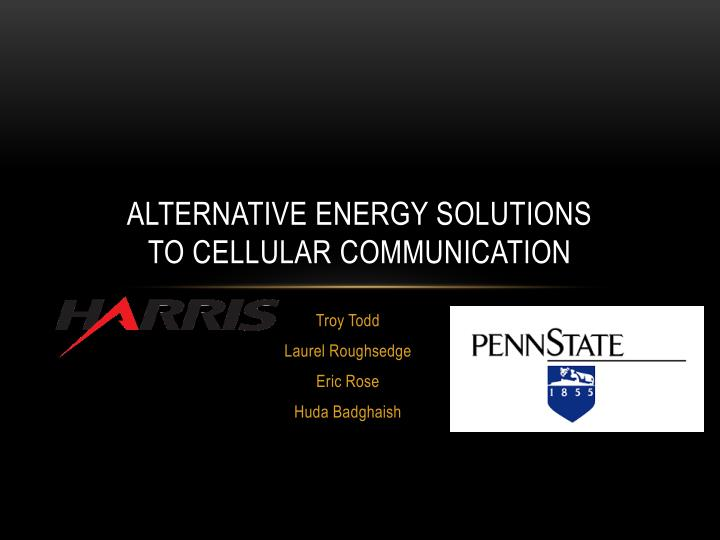 alternative energy solutions to cellular communication n.