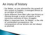 an irony of history