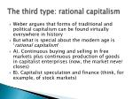 the third type rational capitalism