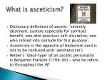 what is asceticism