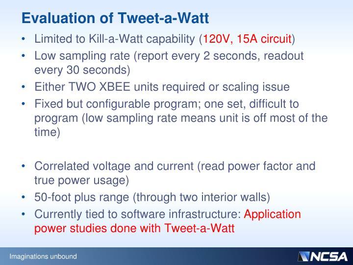 Evaluation of Tweet-a-Watt