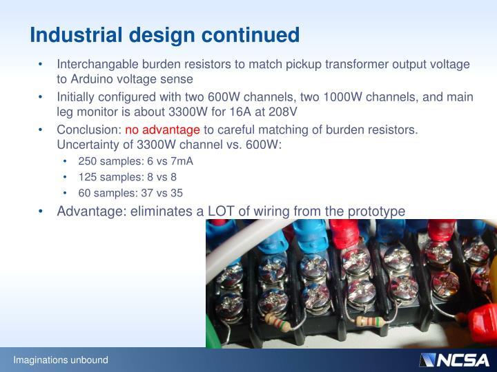 Industrial design continued