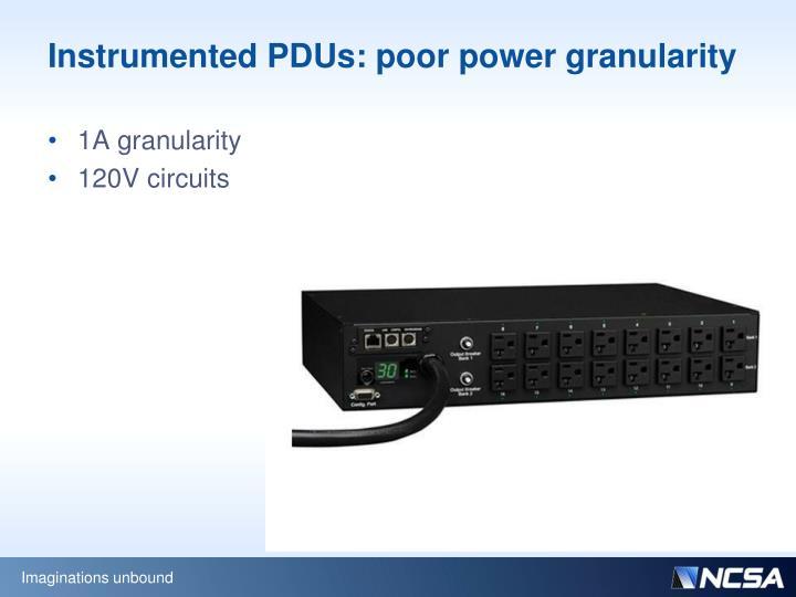 Instrumented PDUs: poor power granularity