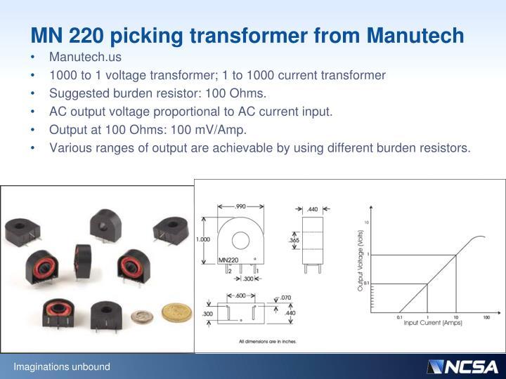 MN 220 picking transformer from