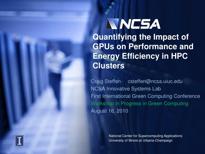 Quantifying the impact of gpus on performance and energy efficiency in hpc clusters