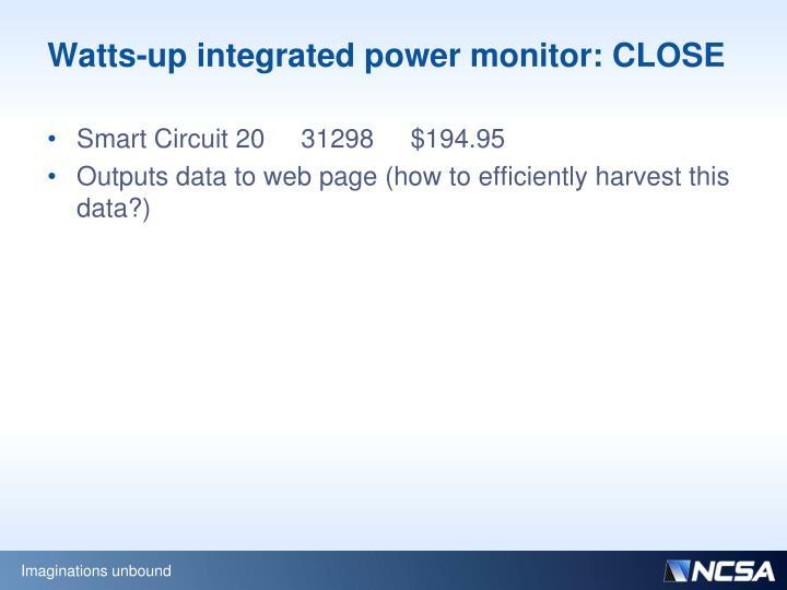 Watts-up integrated power monitor: CLOSE