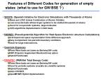 features of different codes for generation of empty states what to use for gw bse
