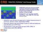 paratec parallel total energy code