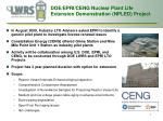doe epri ceng nuclear plant life extension demonstration npled project