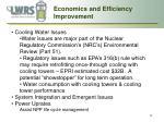 economics and efficiency improvement