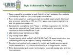 eight collaborative project descriptions