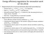 energy efficiency regulations for renovation work 27 02 2013