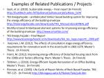 examples of related publications projects