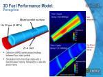 3d fuel performance model peregrine