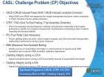 casl challenge problem cp objectives