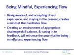 being mindful experiencing flow