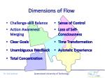 dimensions of flow