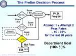 the prelim decision process
